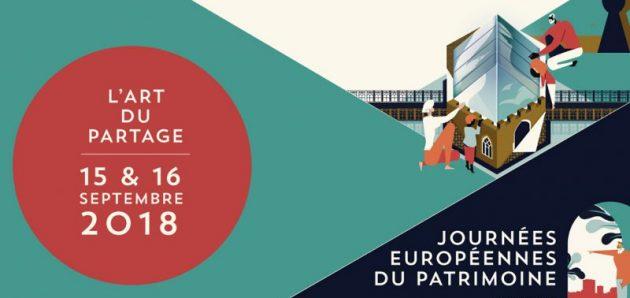 Journées européennes du patrimoine : 15 et 16 septembre 2018